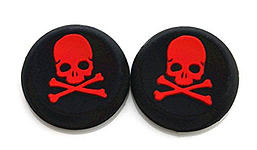 RED Skull and Bones Silicone Thumb Grips for XBOX ONE / 360, PS3 and PS4 XBOX ONE