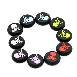 10 Skull and Bones Silicone Thumb Grips for XBOX ONE / 360, PS3 and PS4 XBOX ONE