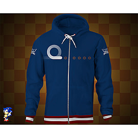 Sonic Blue Ring Hoodie M Medium