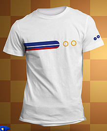 Sonic White Ring T-Shirt L Large