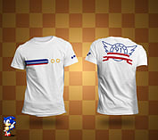 Sonic White Ring T-Shirt L screen shot 1