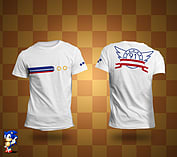 Sonic White Ring T-Shirt XL screen shot 1
