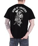 Sons Of Anarchy T Shirt American Reaper new Official Mens BlackSize: S screen shot 1