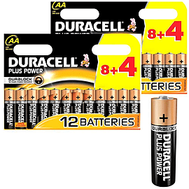 Duracell Plus Power Duralock AA 1.5V Alkaline LR06 Batteries - 24 Pack Multi Format and Universal