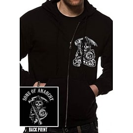 Sons Of Anarchy Samcro Zip Front Hoodie XX-Large Clothing