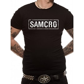 Sons Of Anarchy - Samcro Banner Unisex T-shirt Black Medium Clothing