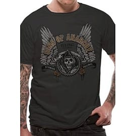Sons Of Anarchy Winged Logo T-Shirt XX-Large - Black Clothing