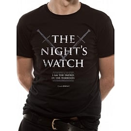 Game Of Thrones Nights Watch T-Shirt XX-Large - Black Clothing