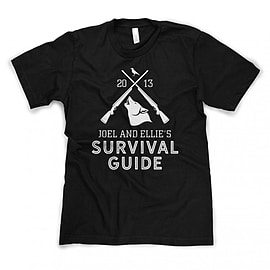 Joel & Ellie's Survival Guide Softstyle T-Shirt Inspired by The Last of Us (2013) - Large Large