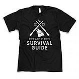 Joel & Ellie's Survival Guide Softstyle T-Shirt Inspired by The Last of Us (2013) - Extra Large screen shot 1