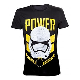Star Wars VII The Force Awakens Adult Male Stormtrooper First Order Power Large T-Shirt Clothing