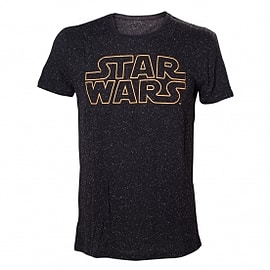 Star Wars Main Logo with Stars XX-Large T-Shirt Clothing