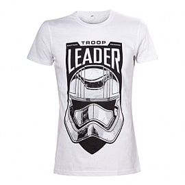 Star Wars VII The Force Awakens Adult Male Troop Leader Stormtrooper Medium T-Shirt Clothing