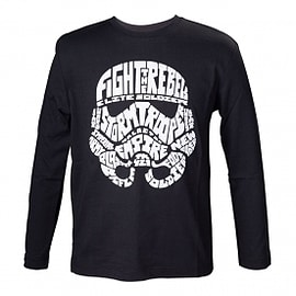 Star Wars Kids Unisex Stormtrooper Word Play Long Sleeved 134/140 T-Shirt Clothing