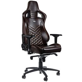 noblechairs EPIC Real Leather Gaming Chair - Brown/Beige Multi Format and Universal