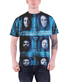 Game Of Thrones T Shirt Death Masks new Official Mens slim fit sub dye Size: XXL Clothing