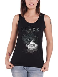 Game Of Thrones Vest Stark House logo new Official Womens Skinny Fit Size: 14 Clothing