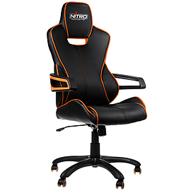Nitro Concepts E200 Race Series Gaming Chair - Black/Orange Multi Format and Universal