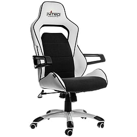Nitro Concepts E220 Evo Series Gaming Chair - White/Black Multi Format and Universal