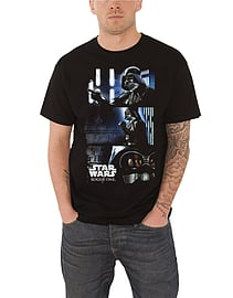 Star Wars T Shirt Rogue One Darth Vader Triptych new Official Mens Black Size: Medium Clothing