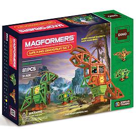 Magformers Walking Dinosaur 81 Piece Set Blocks and Bricks
