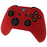 ZedLabz silicone rubber skin grip cover & thumb grip pack for Xbox One controller - red screen shot 1