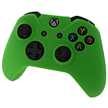 ZedLabz silicone rubber skin grip cover & thumb grip pack for Xbox One controller - green screen shot 1