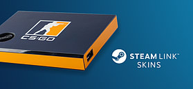 Steam Link Skin - CSGO Blue/Orange screen shot 1