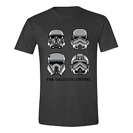 Star Wars Merchandise STAR WARS Men's Rogue One The Galactic Empire T-Shirt, Large, Anthra Clothing