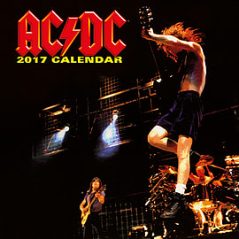 AC/DC Calendar 2017 Album covers rock or bust 30 x 30cm new Official wallSize: Books