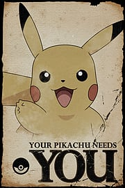 Pokemon Pikachu Needs You Maxi Poster 61 x 91.5cm Posters