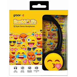 EarMOJI Headphones Face Throwing a Kiss Multi Format and Universal