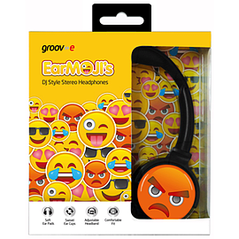EarMOJI Headphones Angry Face Multi Format and Universal