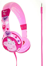 Peppa Pig 'Princess Peppa' Childrens Kids Over Ear Volume Limited Headphones - Pink Audio