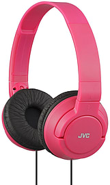 JVC HAS180 Powerful Deep Bass Lightweight Over Ear Foldable Headphones - Red Audio