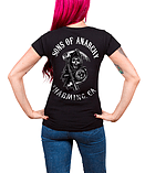 Sons Of Anarchy T Shirt Full CA Backprint new Official Womens Skinny Fit Black Size: 16 screen shot 1