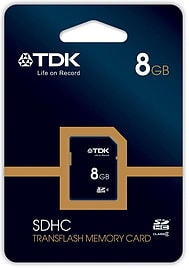 Genuine TDK 8GB Class 4 Travel Flash SDHC High Capacity Memory Card Multi Format and Universal