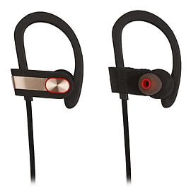 Reytid Wireless Sports Earphones w/ In-Line Microphone & Volume Control - HD Sound in the Gym, Noise Audio
