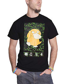 Pokemon T Shirt Psyduck new Official Nintendo Mens Camo Black Size: XXL Clothing