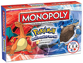 Monopoly Pokemon Kanto Region Edition Board Game Traditional Games