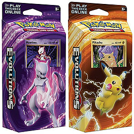 Pokemon Mewtwo & Pikachu XY Evolutions TCG Card Game Decks - 60 cards each Trading Cards