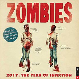 Zombies 2017 Square Calendar 30x30cm Books
