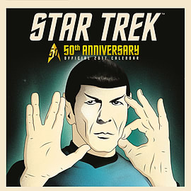 Star Trek 50th Anniversary 2017 Square Calendar 30x30cm Books