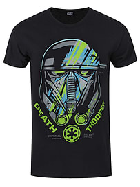Star Wars Rogue One Death Trooper Black Men's T-shirt: Large (Mens 40- 42) Clothing