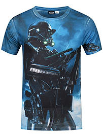Star Wars Rogue One Death Pose All Over Print White Men's T-shirt: Large (Mens 40- 42) Clothing