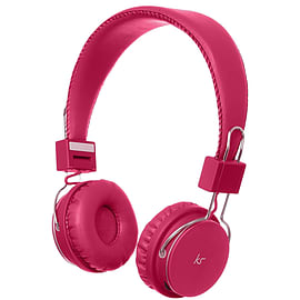 Kitsound Manhattan Bluetooth Headphones with Microphone for Smartphones & more - Pink Audio