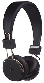Kitsound Manhattan Bluetooth Headphones with Microphone for Smartphones & more - Black / Rose Gold Audio