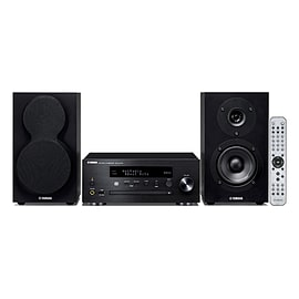 Yamaha MCRN470D-BK Mini Music Cast System with Bluetooth and 44W Power in Black Audio