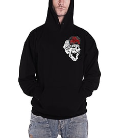 Sons of Anarchy Hoodie Los Mayans Rival Gang Reaper Logo Official Mens New Black Size: Medium Clothing