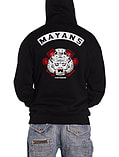 Sons of Anarchy Hoodie Los Mayans Rival Gang Reaper Logo Official Mens New Black Size: Medium screen shot 1